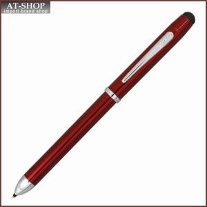 CROSS クロス 複合ボールペン  テックスリー プラス トランスルーセントレッドラッカー AT0090-13 at-shop