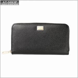 DOLCE&GABBANA ドルチェ&ガッバーナ  財布 BI0473 A1001 80999 ラウンドファスナー長財布|at-shop