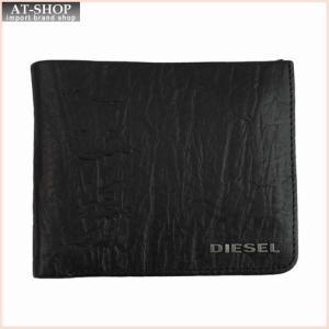 DIESEL ディーゼル 財布サイフ ENJOY-IT! HIRESH S 二つ折り財布 X04138 T8013 ブラック|at-shop