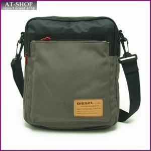 ディーゼル バッグ DIESEL X02408 P0166 H4585 クロスボディショルダー Black/Olive Night|at-shop