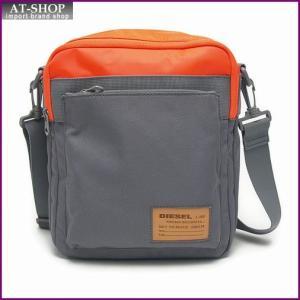ディーゼル バッグ DIESEL X02408 P0166 H5065 クロスボディショルダー Orange/Charcoal Grey|at-shop