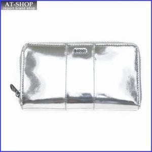 ディーゼル 財布 DIESEL X02417 PS202 T9002 ラウンドファスナー長財布 シルバー|at-shop
