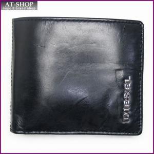 ディーゼル 財布 DIESEL X02471 PR378 H1532 二つ折り財布 ブラック/ホワイト|at-shop