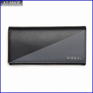 ディーゼル 財布 DIESEL X03101 P0519 H3800 折長財布 ブラック/グレー|at-shop