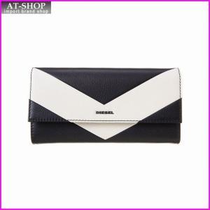 ディーゼル 財布 DIESEL X03680 P0396 H2690 BLACK/BURCH WHITE 長財布|at-shop