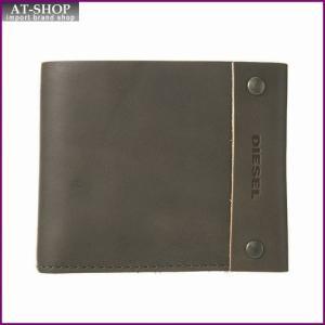 ディーゼル DIESEL X03812 P0231 T8081 二つ折り財布 Grey Gargoyle|at-shop