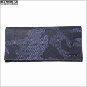ディーゼル 財布 DIESEL  X04111 P1071 H6079 長財布 Blue Camou/Black at-shop
