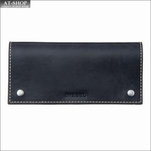 ディーゼル DIESEL 二つ折り長財布 X04737 PR080 T6065 ネイビー at-shop