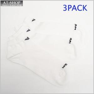 エンポリオ アルマーニ 靴下 EMPORIO ARMANI 300008 5P234 00010 M コットンソックス 3PACK WHITE|at-shop