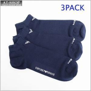 エンポリオ アルマーニ 靴下 EMPORIO ARMANI 300008 5P234 00035 M コットンソックス 3PACK NAVY|at-shop