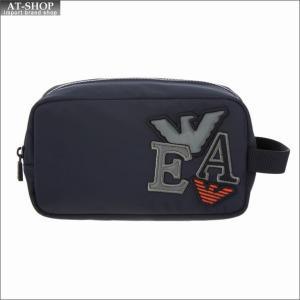 エンポリオ・アルマーニ EMPORIO ARMANI バック ポーチ セカンドバッグ Y4R159 YLI9V 81285 BLUE-BLACK|at-shop