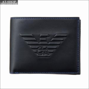 エンポリオ・アルマーニ EMPORIO ARMANI 財布サイフ 二つ折り財布 Y4R165 YG90J 81072 BLACK|at-shop