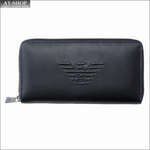 エンポリオ・アルマーニ EMPORIO ARMANI 財布サイフ ラウンドファスナー長財布 Y4R169 YG90J 81072 BLACK|at-shop