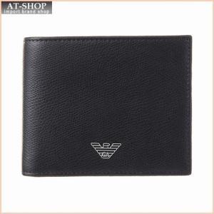 エンポリオアルマーニ EMPORIO ARMANI YEM122 YAQ2E 81072 二つ折財布 Black at-shop