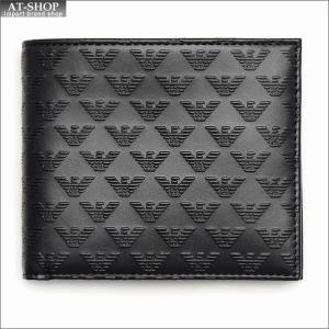 エンポリオ・アルマーニ EMPORIO ARMANI 財布サイフ 二つ折り財布 YEM122 YC043 80001 NERO|at-shop