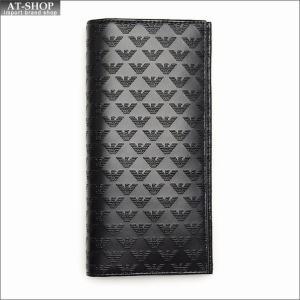 エンポリオ・アルマーニ EMPORIO ARMANI 財布サイフ 二つ折り長財布 YEM474 YC043 80001 NERO|at-shop