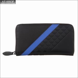 エンポリオ・アルマーニ EMPORIO ARMANI 財布サイフ ラウンドファスナー長財布 YEME49 YKS2V 81072 Black at-shop