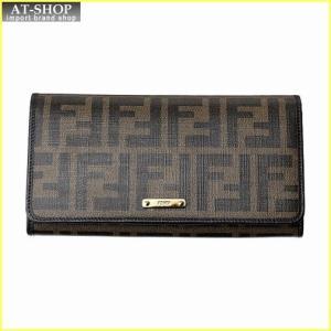FENDI フェンディ 財布サイフ 二つ折り長財布 8M0298 GRP F0A72 ブラウン|at-shop