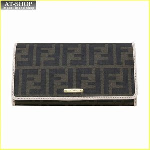 FENDI フェンディ 財布サイフ 二つ折り長財布 8M0298 GRP F0J3N ブラウン/ライトピンク|at-shop