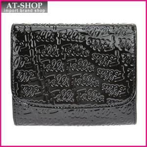 Folli Follie フォリフォリ 財布 サイフ WA0L026SK BLACK 二つ折り財布|at-shop