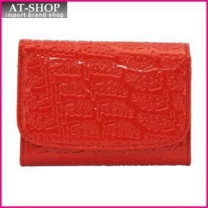 Folli Follie フォリフォリ 財布 サイフ WA0L026SR RED  二つ折り財布|at-shop