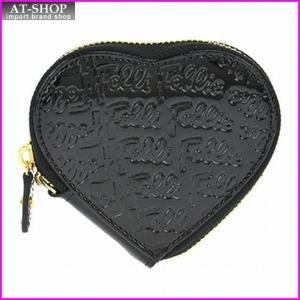 Folli Follie フォリフォリ 財布 サイフ WA0L035SK/BLK 小銭入れ コインケース|at-shop