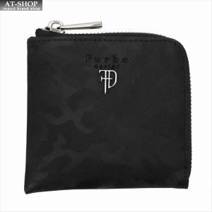 Furbo design フルボデザイン 財布サイフ カモフラージュ レザー Lラウンドファスナー財布 FRB133 BLACK ブラック|at-shop