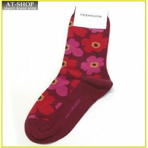 マリメッコ HIETA UNIKKO 039859 033 red/red ウニッコ柄 ソックス 靴下 at-shop