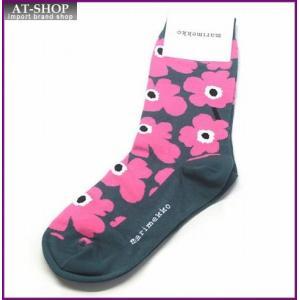 マリメッコ 042639 631 d.green/pink/white HIETA UNIKKO ウニッコ柄 ソックス 靴下 at-shop
