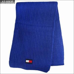 TOMMY HILFIGER トミー・ヒルフィガー マフラー H8C8-3203-400 BLUE ブルー 2018AW  h8c83203-400|at-shop