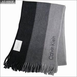 Calvin Klein カルバンクライン マフラー HKC83406-001 BLACK ブラック|at-shop