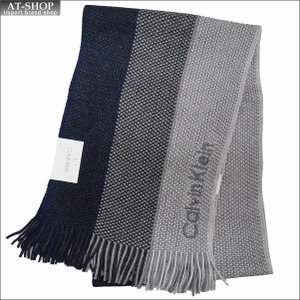 Calvin Klein カルバンクライン マフラー HKC83406-411 NAVY ネイビー|at-shop