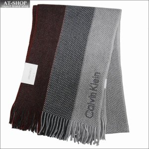 Calvin Klein カルバンクライン マフラー HKC83406-605 BURGUNDY バーガンディ|at-shop