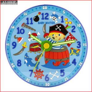 baby watch ベビーウォッチ 子供部屋用掛け時計 海賊 HL002 at-shop