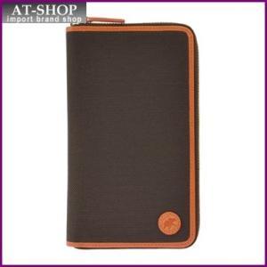 ハンティングワールド 財布 676-435 ADOBE/DBR/ORG 長財布 ラウンドファスナー|at-shop