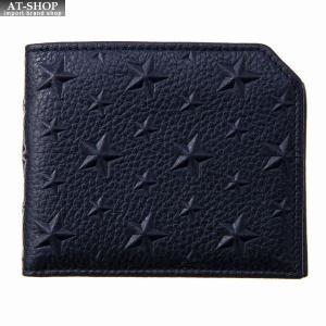 ジミー・チュウ JIMMY CHOO 財布サイフ 二つ折り財布 ALBANY EMG NAVY at-shop