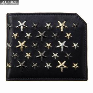 ジミー・チュウ JIMMY CHOO 財布サイフ 二つ折り財布 ALBANY LTR BLACK|at-shop