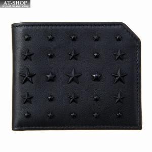 ジミー・チュウ JIMMY CHOO 財布サイフ 二つ折り財布 ALBANY LXA BLACK at-shop