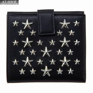 ジミー・チュウ JIMMY CHOO 財布サイフ 二つ折り財布 FRIDA CST BLACK at-shop