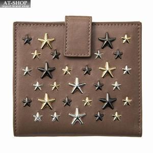 ジミー・チュウ JIMMY CHOO 財布サイフ 二つ折り財布 FRIDA LTR MUSK-METALLIC MIX|at-shop