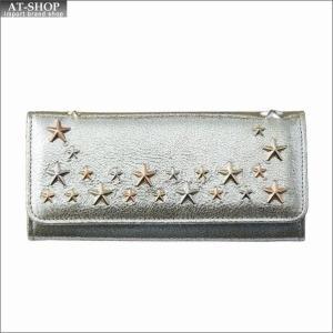 ジミー・チュウ JIMMY CHOO 財布サイフ 二つ折り長財布 NINO GTQ CHAMPAGNE/ROSE GOLD METALLIC MIX|at-shop