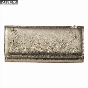 ジミー・チュウ JIMMY CHOO 財布サイフ 二つ折り長財布 NINO GTU GOLD/GOLD at-shop