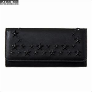 ジミー・チュウ JIMMY CHOO 財布サイフ 二つ折り長財布 NINO LEV BLACK/BLACK|at-shop