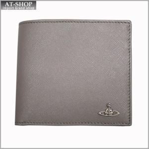 Vivienne Westwood ヴィヴィアン・ウェストウッド 財布サイフ NO,8 KENT 二つ折り財布 33.364 GREY 17SS グレー|at-shop