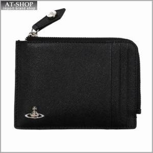 Vivienne Westwood ヴィヴィアン・ウェストウッド 財布サイフ NO,8 KENT ファスナー式小銭入れ カードケース 33.372 BLACK 17SS ブラック|at-shop