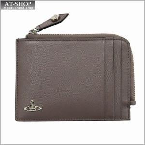Vivienne Westwood ヴィヴィアン・ウェストウッド 財布サイフ NO,8 KENT ファスナー式小銭入れ カードケース 33.372 GREY 17SS グレー|at-shop
