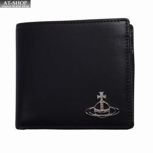 Vivienne Westwood ヴィヴィアン・ウェストウッド 財布サイフ NO,10 KENT 二つ折り財布 51010016 BLACK 18SS ブラック|at-shop