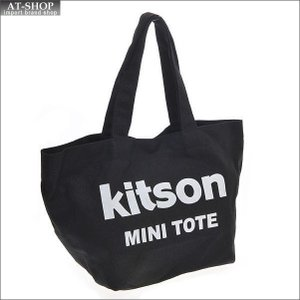 KITSON キットソン バッグ キャンバス ミニトートバッグ 3544 ブラック/ホワイト at-shop