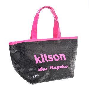 KITSON キットソン バッグ スパンコール ミニトートバッグ 3575 ブラック/ネオンピンク at-shop