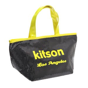 KITSON キットソン バッグ スパンコール ミニトートバッグ 3577 ブラック/ネオンイエロー at-shop